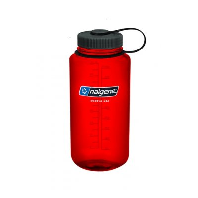 Nalgene Wide Mouth Red/Black 1 L