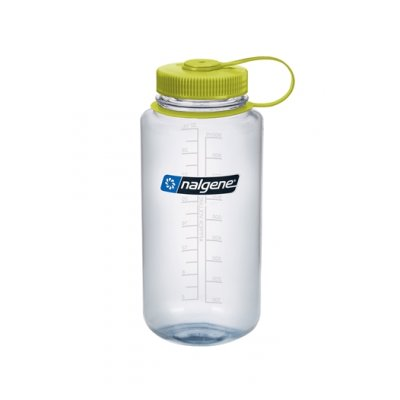 Nalgene Wide Mouth Clear/Green 1 L